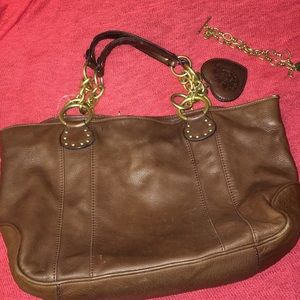 Juicy couture bundle leather bag and bracelet